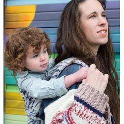 Beco Woven Ink Strokes - Babydraagzak