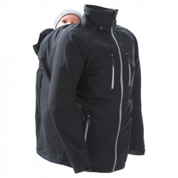 Mamalila Softshell Babywearing Jacket voor papas - zwart
