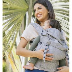 Tula Linen Explore Ash - draagzak baby