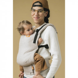 Tula Linen Free to Grow Sand - draagzak baby