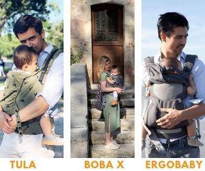 Vergelijk Tula Toddler, Boba X en Ergobaby 360 Cool Air